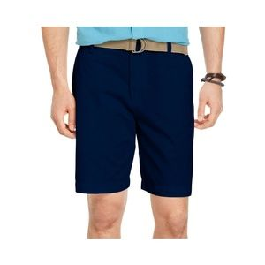 IZOD Chino Flat-Front Belted Shorts NEW